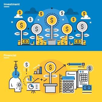 Elementos infographic cerca de processos de negócios