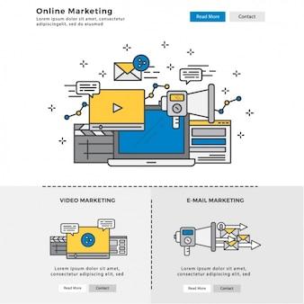 Elementos infographic sobre marketing digital