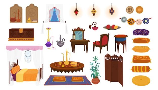Elementos interiores do conjunto do oriente médio.
