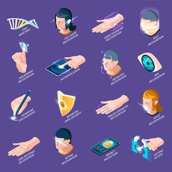 Elementos isométricos de autenticação biométrica