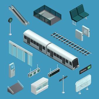 Elementos isométricos de metrô