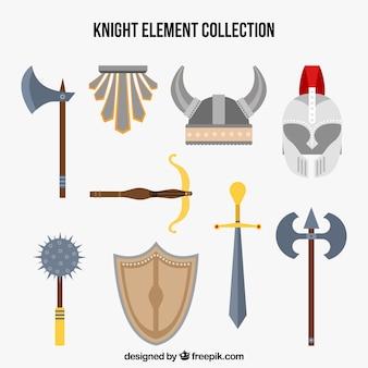 Elementos knight com estilo nórdico