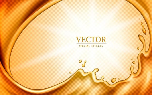 Elementos líquidos dourados, podem ser usados como efeitos especiais