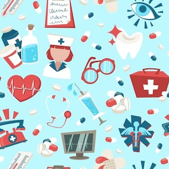 Elementos médicos design padrão