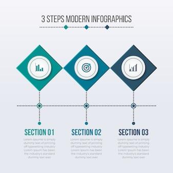 Elementos modernos de infográficos de negócios