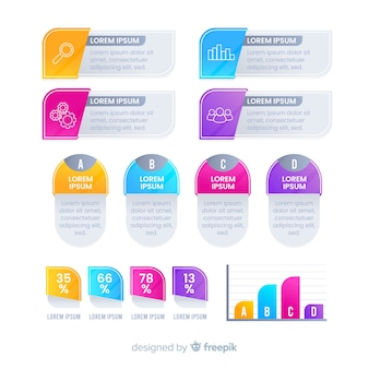 Elementos modernos infográficos coloridos