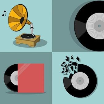 Elementos musicais coloridas