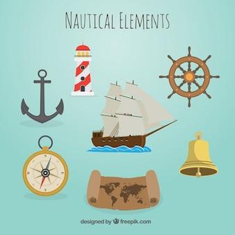 Elementos náuticos bonitas