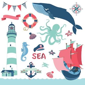 Elementos náuticos do mar