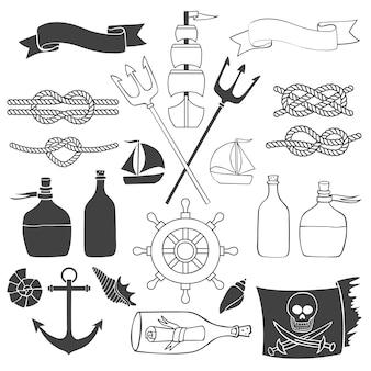 Elementos náuticos e mar