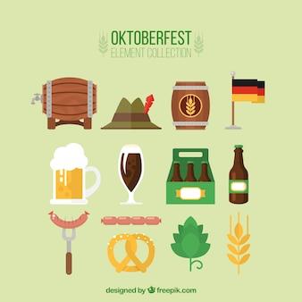 Elementos oktoberfest ajustados no projeto plana