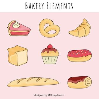 Elementos padaria com pretzel