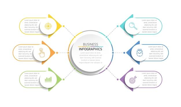 Elementos para apresentação de infográficos e etapas do gráfico ou opções de processos número etapas do modelo de fluxo de trabalho