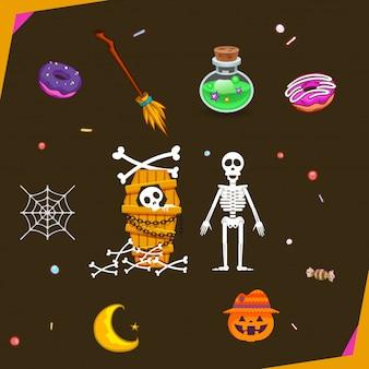 Elementos para o dia de halloween