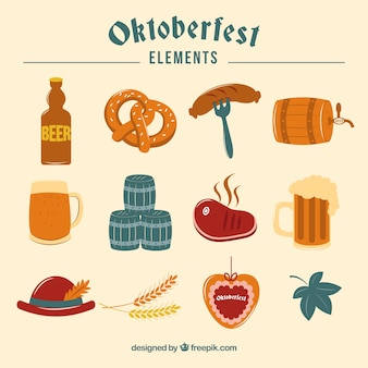Elementos para o festival oktoberfest