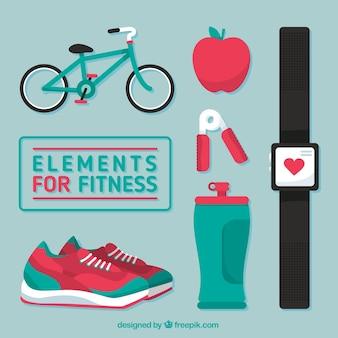 Elementos para o pacote de fitness