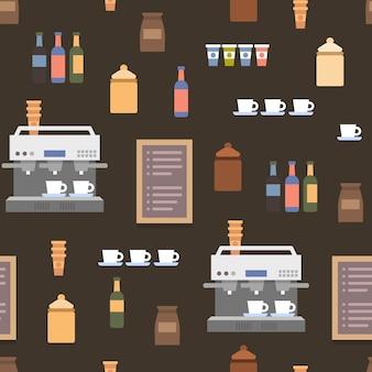 Elementos planos de loja de café