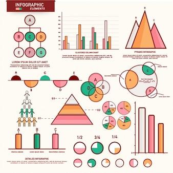 Elementos planos para infográficos