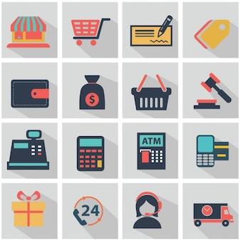 Elementos planos sobre lojas