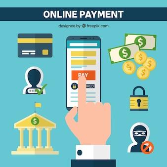 Elementos planos sobre o pagamento eletrônico