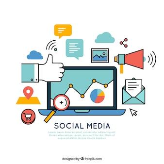 Elementos relacionados com a mídia social