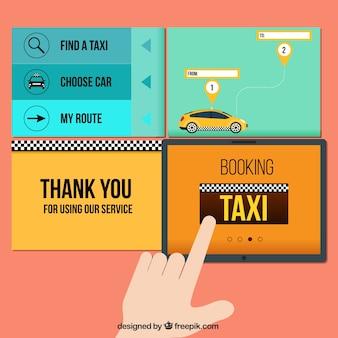 Elementos taxi web
