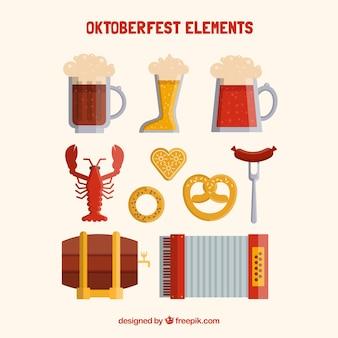 Elementos típicos para a oktoberfest