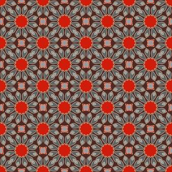 Elementos vintage de padrão de mandala sem costura em estilo oriental te