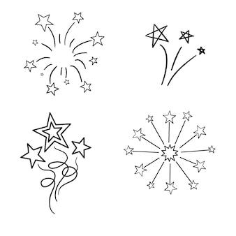 Elementos vintage do vetor desenhado de mão - raios do sunburst (estourando). perfeito para convites, cartões, blogs, pôsteres e muito mais.