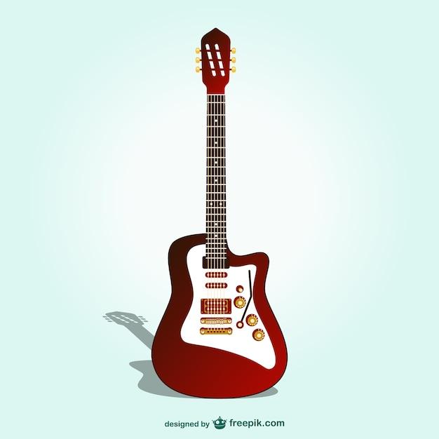 Elétrica do vetor da guitarra
