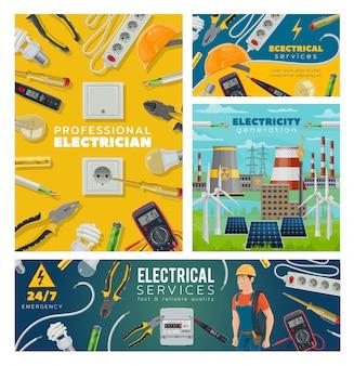 Eletricista e ferramentas elétricas, indústria de energia