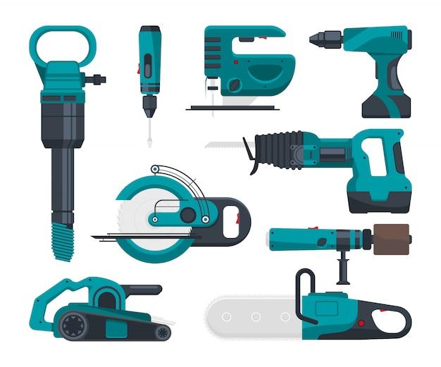 Eletro-ferramentas de construção para reparação.