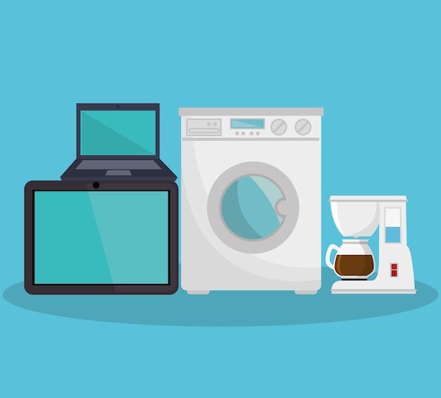 Eletrodomésticos definir ícones