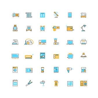 Eletrodomésticos e aparelhos eletrônicos vector icons