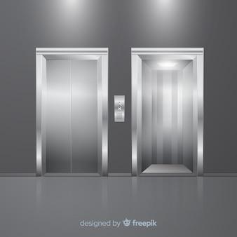 Elevador moderno com design realista