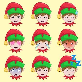 Elf natal em emoção diferente.