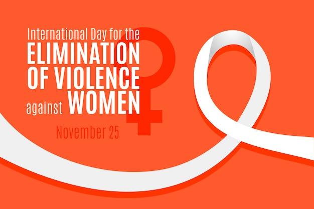 Eliminação da violência contra as mulheres - fita de conscientização