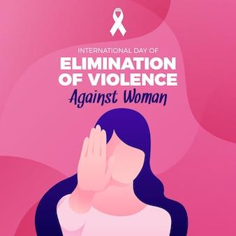 Eliminação da violência contra as mulheres ilustrada