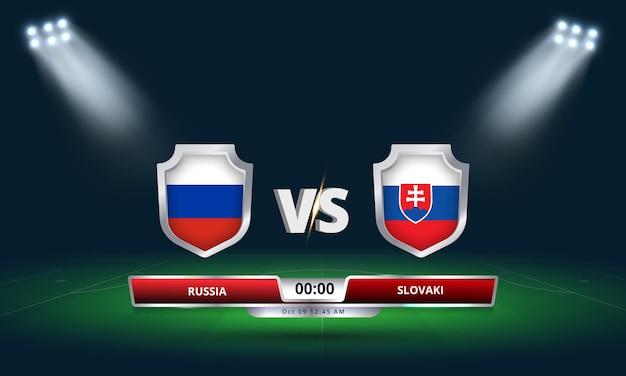 Eliminatória da copa do mundo da fifa 2022 partida de futebol da rússia x eslováquia