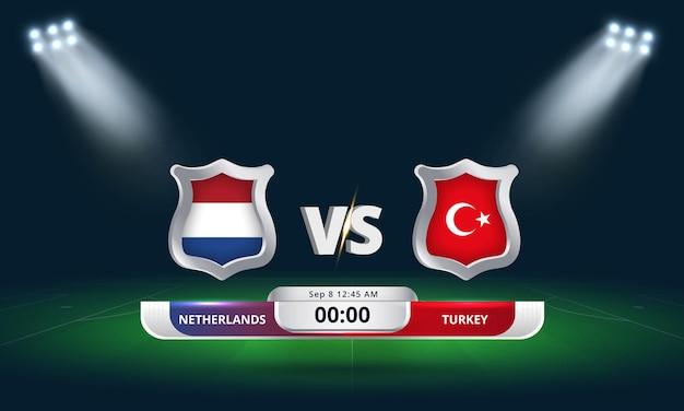 Eliminatória da copa do mundo da fifa 2022 partida de futebol holanda x turquia
