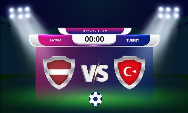 Eliminatórias da copa do mundo da fifa 2022 partida de futebol da letônia x turquia