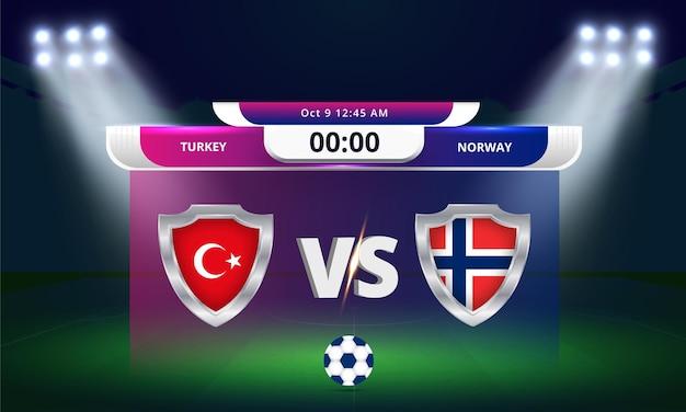 Eliminatórias da copa do mundo da fifa 2022 partida de futebol turquia x noruega república