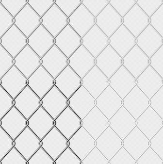 Elo da cadeia cerca arame malha aço metal isolado