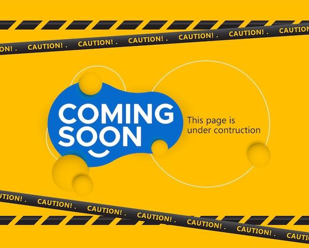 Em breve banner template esta página está em construção