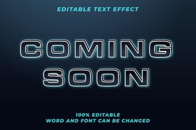Em breve efeito de estilo de texto techno