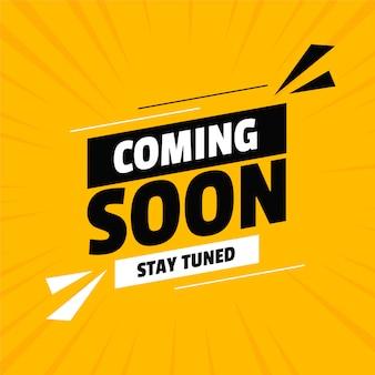 Em breve, em construção, design amarelo