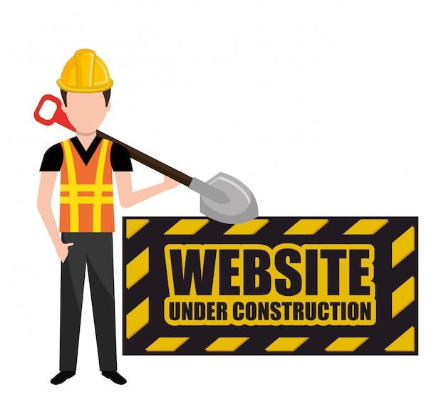 Em construção e ferramentas