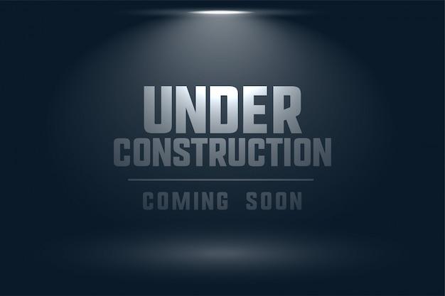 Em construção, em breve, localize fundo claro