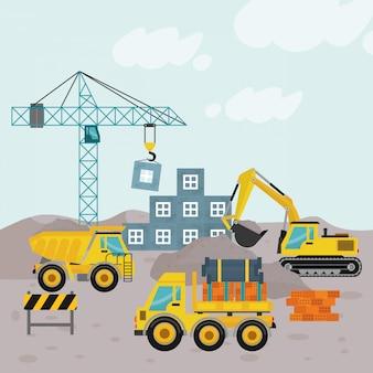 Em construção ilustração
