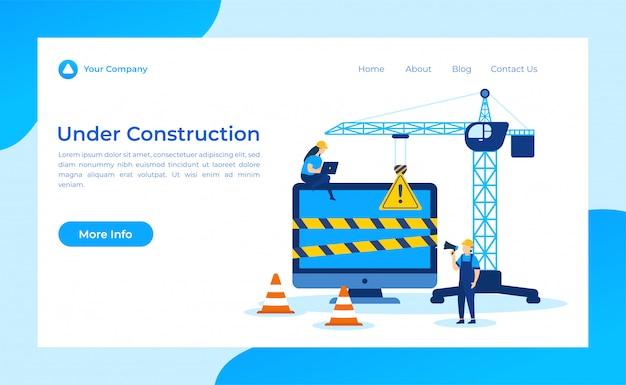 Em construção landing page